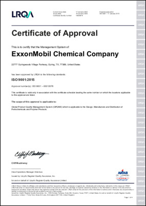 Lloyd's Register Quality Assurance certificate of approval