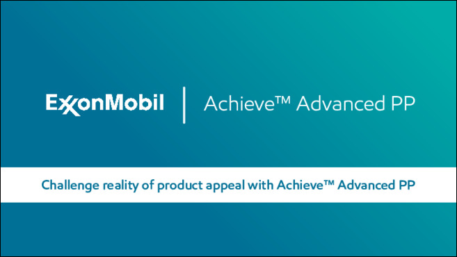 Achieve™ Advanced PP expands the possibilities of what's possible in automotive performance, packaging design, hygiene comfort and appliance appeal.