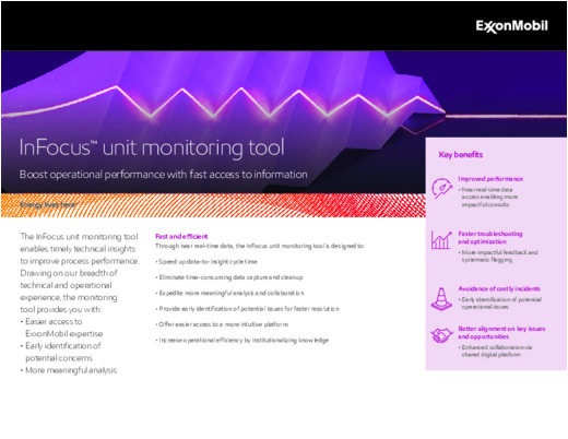 Boost your operational performance with fast access to information with the InFocus unit monitoring tool.