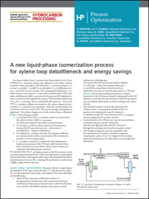 Read the article published in Hydrocarbon Processing that provides intriguing real-world case studies on a new LPI process that has commercially operated since 2015.