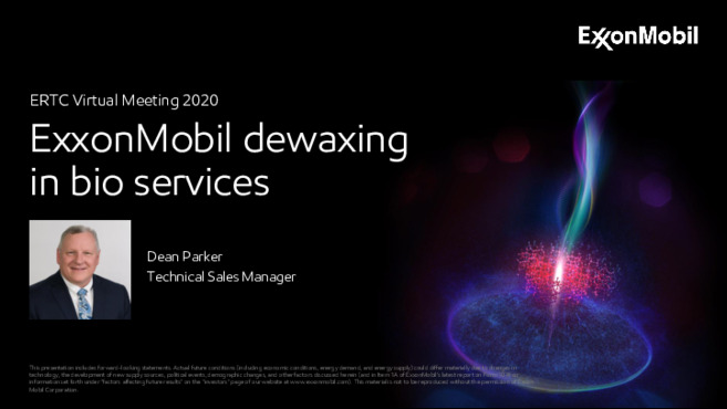 Learn more about ExxonMobil Dewaxing in Bio Services